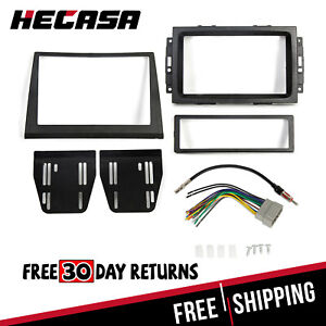 Dash Radio Install Double Din Bezel Kit Wire Harness For 2006 07 Jeep Commander