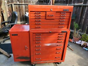 Matco Tool Box With Hanging Side Cabinet With Keys