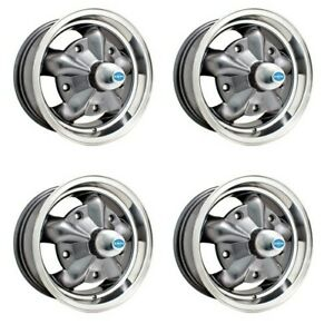 Torque Star Wheels Grey With Polished Rim 5 Wide 5 On 205m Dunebuggy Vw