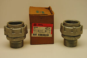 Box Of 2 Crouse Hinds Cat Unf605 Explosion Proof 2 Union Malleable Iron