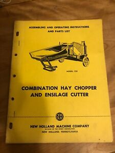 New Holland Combination Hay Chopper Ensilage Cutter Instructions Parts List