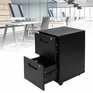 Durable 2 Drawer Mobile File Cabinet W Lock Key Rolling Storage Office Home New