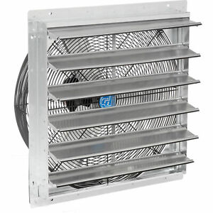 Direct Drive Exhaust Ventilation Fan With Shutter 24 2 speed With Hardware