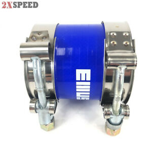 One Silicone Hose 2 25 Straight Coupler Blue Two Ss T Bolt Clamps