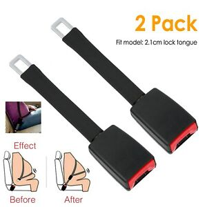 2pcs Universal Car Seat Belt Extender 9 Buckle Auto Safety Belt Clip Extension