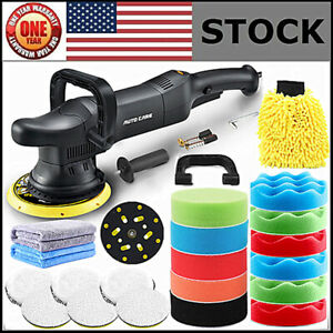 6 Dual Action Car Polisher Buffer Sander Heavy Duty Orbital Polishing Machine