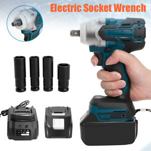 1 2 520nm Impact Brushless Cordless Wrench Tool Kit 7800mah W Friction Ring