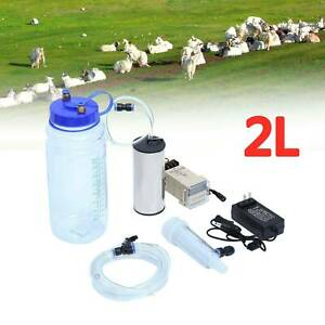 2l Electric Barrel Milking Machine Portable Vacuum Goat Milker Pump Bucket