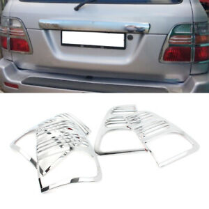 Taillight Rear Lamp Covers Trims For 1998 2005 Toyota Land Cruiser Chrome Color