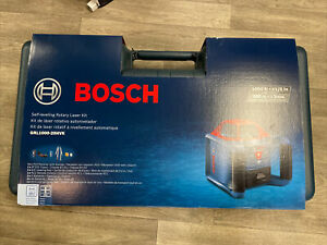 Bosch Grl1000 20hvk 1000 ft Red Beam Self leveling Rotary 360 Laser Level Kit