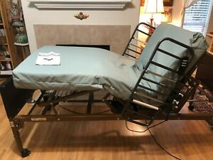 Full Electric Hospital Bed With Rails Included Fully Adjustable Home Care Use