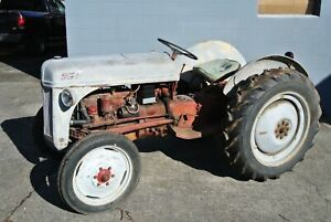 8n Ford Tractor With Engine Rebuilt New Clutch Brakes Runaway Clutch Battery