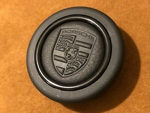 Limited Porsche Genuine Wrinkled Leather Horn Button For Momo Omp Sparco