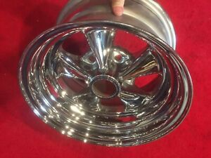 American Racing Vintage 5 Spoke Chrome Mag Wheels Rims New Old Stock Nos