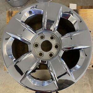 20 Inch Wheel Chevy Silverado Tahoe Suburban Chrome 2014 2020 Oem Factory 5651