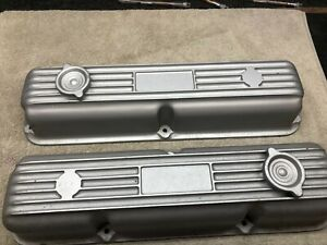 New Cast Aluminum Valve Covers Ford Galaxie Fe 427 428 406 390 352 Truck F100 Me