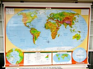 Rand Mcnally 3 Map Pull Down Set World History Home Charter School Markable