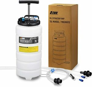 15l Pneumatic Manual Oil Changer Brake Bleeder Vacuum Ewk Extractor Pump Tank