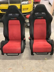 Jdm Oem 06 11 Honda Civic Type R Ctr Fd1 Fd2 Type r Red Black Seat Pair