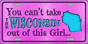 Wisconsin Girl Metal License Plate