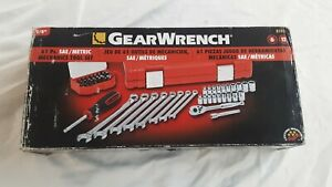 Gearwrench 81024 61 Pc 1 4 Dr Socket Screwdriver Wrench Sae Metric Tool Set
