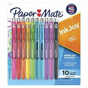 Paper Mate 1956279 Inkjoy Gel Pens Medium Point Assorted Colors 10 count