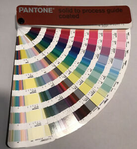 2001 Pantone Color Solid To Process Guide Coated Color Swatches Fan