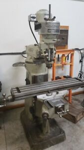 Bridgeport Milling Machine 42 X 9 Table 1hp R8 Spindle Lube Pump Manual Mill