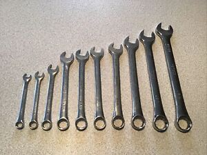 Sk Tools Usa Long Wrench Set Metric 10pc 12 Point 22 21 19 18 17 16 15 12 10 9