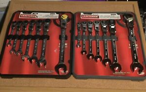 Craftsman Flex Head Ratcheting Wrench Set Standard And Metric