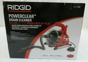 Ridgid Powerclear Drain Cleaning Machine Clears 3 4 To 1 1 2 Lines Up To 25