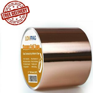 Copper Foil Tape 3 x 275 With Conductive Adhesive For Guitar Emi Shielding