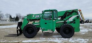 2012 Jlg Skytrak 8042 Enclosed Cab Fork Lift Telescopic 4x4 Foam Filled Tires