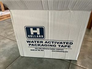 Holland Water activated Packaging Tape 12 Rolls 2 Inches X 375 Feet