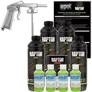 Raptor Urethane Spray Truck Bed Liner With Spray Gun 4 L Lime Green