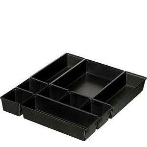 B689k Drawer Organizer Tray Set Black Black