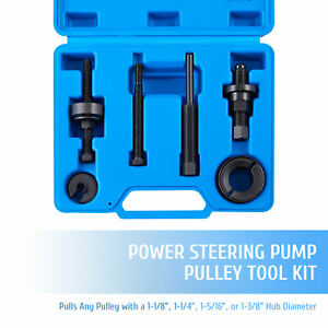 Omt 7pc Power Steering Pump Pulley Puller installer Tool Kit For Ford Gm More