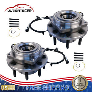 Set 2 Front Wheel Hub Bearing W Abs For 2011 2016 Ford F 350 F 250 Super Duty
