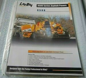 Factory Oem Dealership Brochure Undated Leeboy 8500 Asphalt Pavers