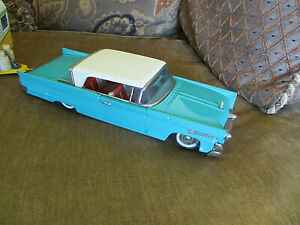 Vintage Bandai Japan 1958 Lincoln Continental Mark 3 Tin Friction Toy Car Only