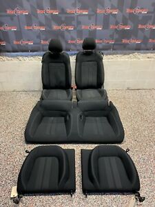 2018 Ford Mustang Gt Oem Coupe Black Cloth Front Rear Seats