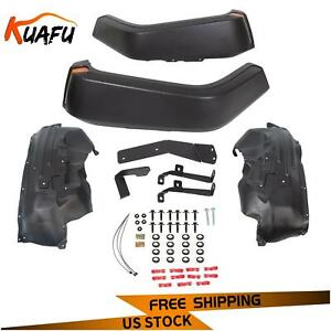 For 07 18 Jeep Wrangler Jk All Model High Top Front Fender Flares With Lights
