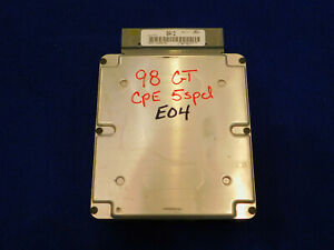 98 1998 Ford Mustang Gt 4 6l Manual Trans Ecu Computer Bai2 Used Take Off E10