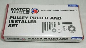 Matco Tools Pulley Puller And Installer Set Mst93a