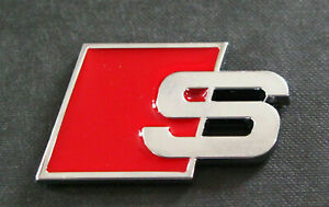 S line Audi Sports Metal S Boot Badge Red A3 A4 A5 A6 A8 S S3 S4 S5 S8 Rs3 Rs4