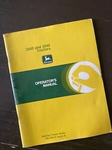 John Deere 2440 2640 Utility Tractor Owner Operator User Guide Manual Book Guide