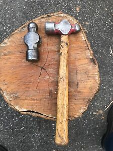 Matco Vintage Ball Peen Hammer s A Bh 40 40 0z Head And A Bh 32 With Handle