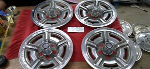 4 Vintage 1966 1967 1968 1969 Ford Mustang 15 In Hubcaps Wheel Covers H 618