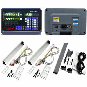 2 Axis Digital Readout Dro Display 8 38 Linear Scale Kit Encoder Mill Lathe Us