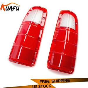 For 1972 1980 Dodge Truck Plymouth Power Wagon Tail Light Lens Only Pair Lh Rh